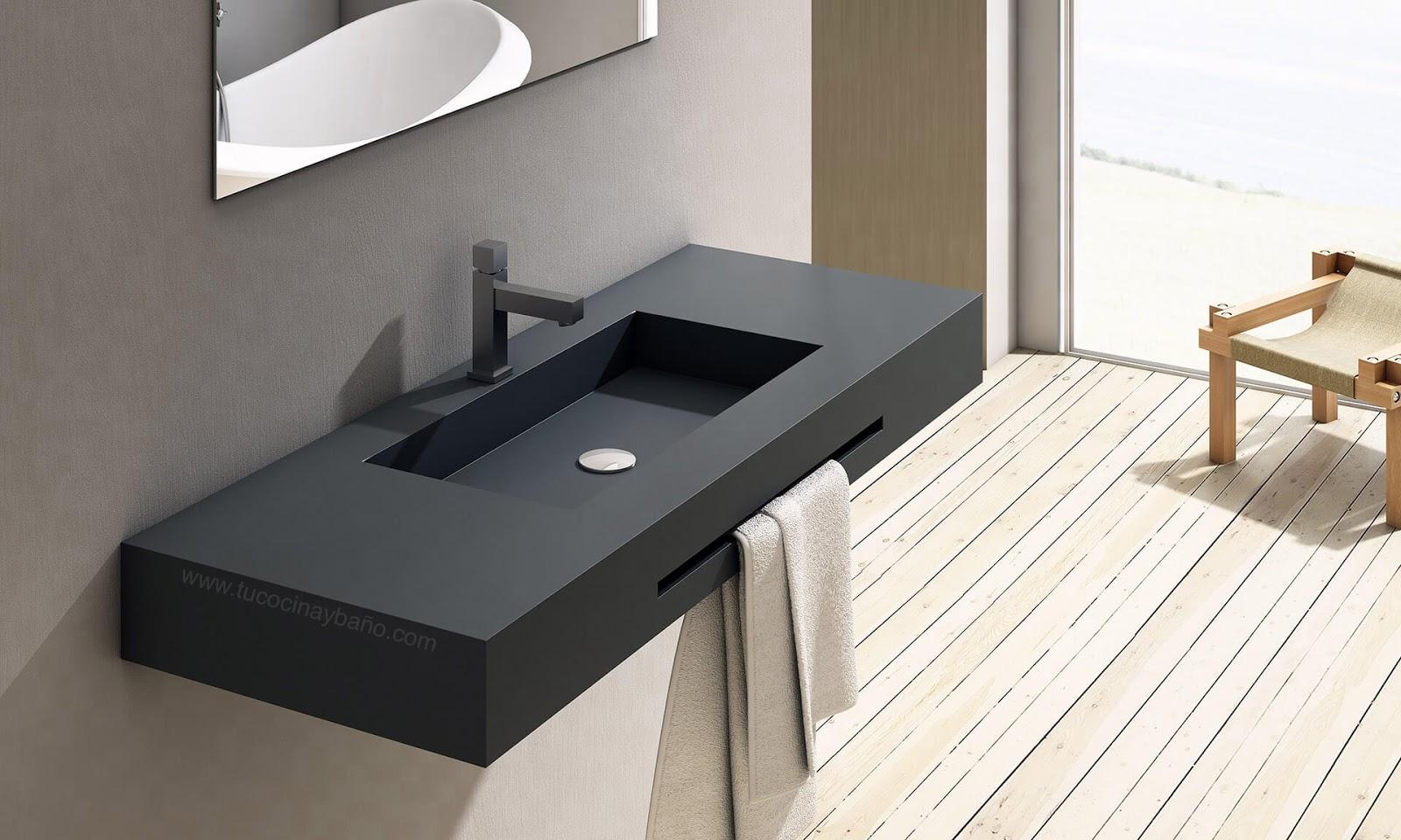 Encimera lavabo suspendido a medida reformas guaita - Encimera marmol precio ...