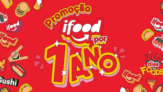 Promoção iFood por 1 Ano