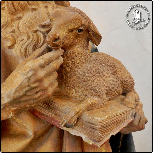 CHATEAUNEUF-EN-AUXOIS (21) - Statue de Saint-Jean-Baptiste (XVe siècle)