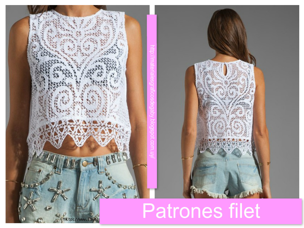 Vistoso Patrón De Crochet Filete Foto - Ideas de Patrones de Costura ...