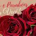 Mensagem de aniversário com  flores, linda