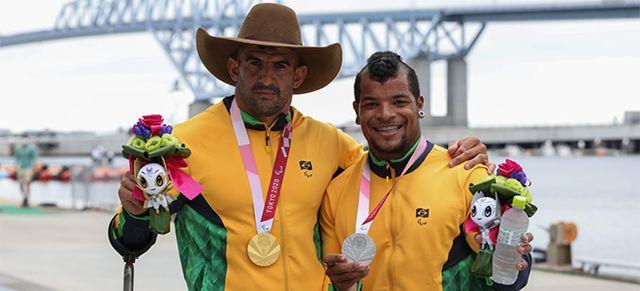 Ouro e Prata para Rufino e Giovane na Paracanoagem nas Paralimpiadas em Tóquio