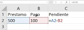 Como Restar En Excel
