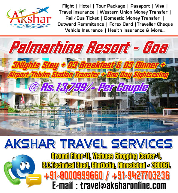 akshar travel services, ground floor 11 vishwas shopping center-1, r.c.technical road, ghatlodia, ahmedabad, goa hotel packages, goa airfare, goa resorts, goa booking, goa taxi, goa taxi booking, travel agency, goa travel booking agent, tour goa by train, goa tour by bus, flight, train, cheap air ticket booking agent, travel agency in goa, ahmedabad, gujarat, india, rajasthan, delhi, kolkata, hyderabad, chennai, lucknow, varansi, rajkot, ahmedabad, aksharonline.com, akshar travel services, ghatlodia, aksharonline.in, 9427703236, 8000999660, akshar infocom, Travel Booking Agent in Ahmedabad, Travel Agency Near Me, flight, hotel, passport, visa, travel insurance, railway ticket, bus ticket, domestic money transfer, western union money transfer, outward remmitance, forex card, travel card, traveller cheque, demand draft, imagica ticket, tour package