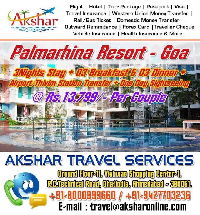 Palmarhina Resort - Goa (3Nights/4Days) Package