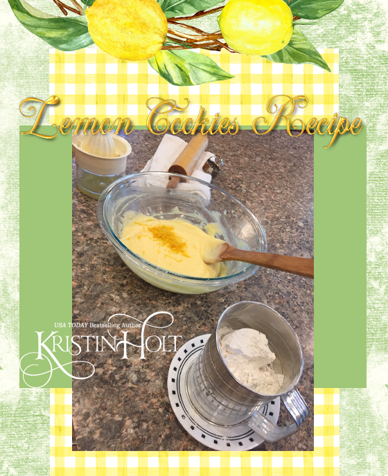 Kristin Holt | Lemon Cookies Recipe (1895), Image 10- Add zest to batter and begin stirring in *sifted* flour.