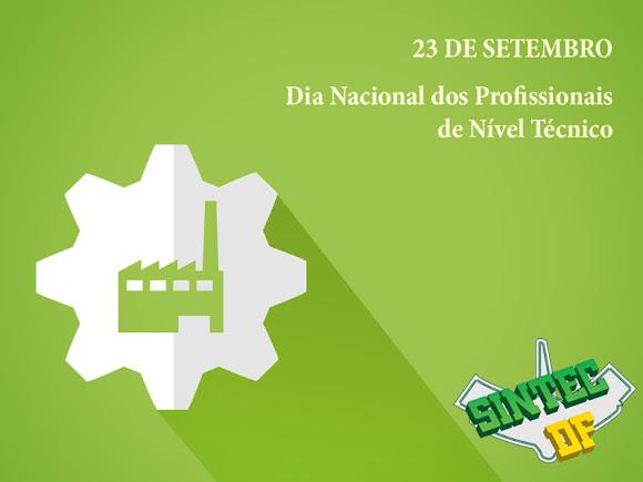 23 de setembro - Dia Nacional dos Técnicos Industriais de Nível Médio