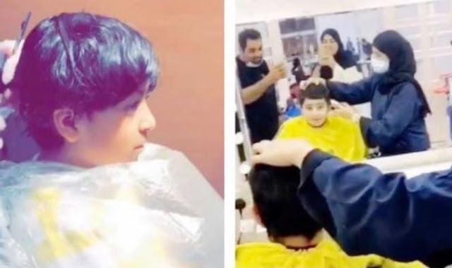 Video of Saudi Woman works in a Barber shop in Taif gone Viral - Saudi-Expatriates.com