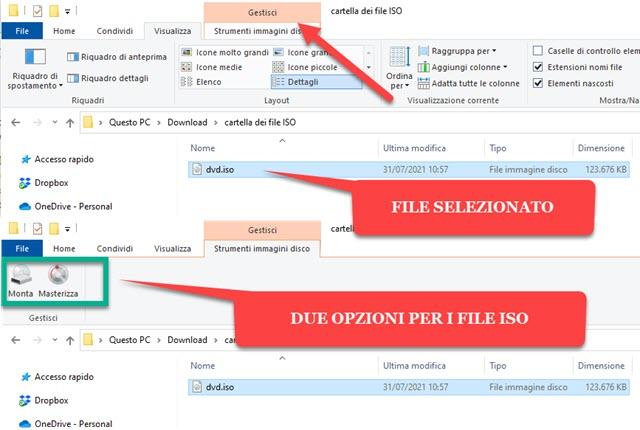 strumenti immagini disco in Esplora File