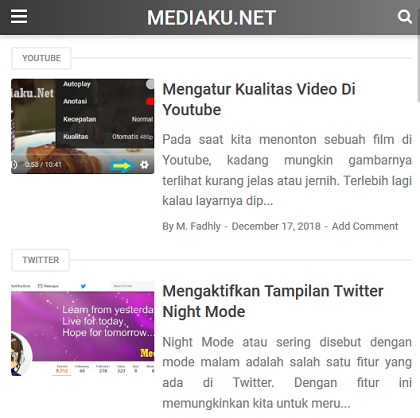 Tampilan Blog Mediaku