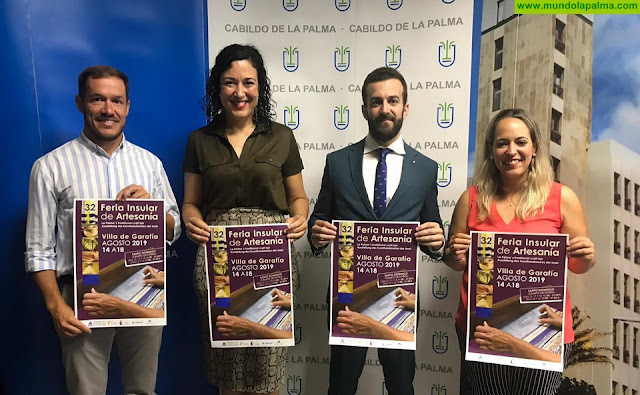 El Cabildo agradece el apoyo de la Obra Social la Caixa y la Fundación Cajamar Canarias a la Feria Insular de Artesanía