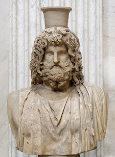 Bust of Zeus-Serapis, Roman copy of a Greek original from the 4th century BC, from the Serapeum of Alexandria
