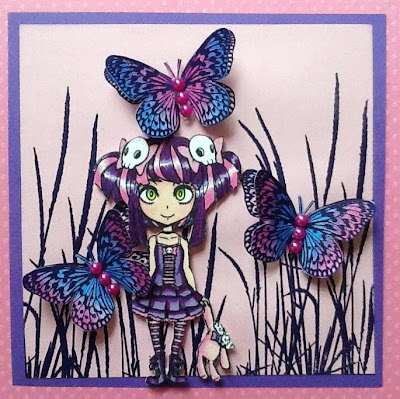 visible image stamps tall grass stamp butterfly stamp teen girl stamp