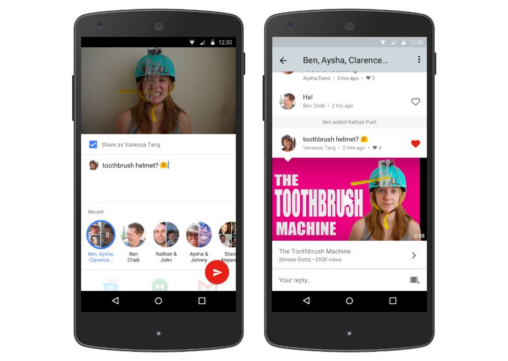 YouTube Testing Native Sharing, Threads of Videos and Conversations With Friends