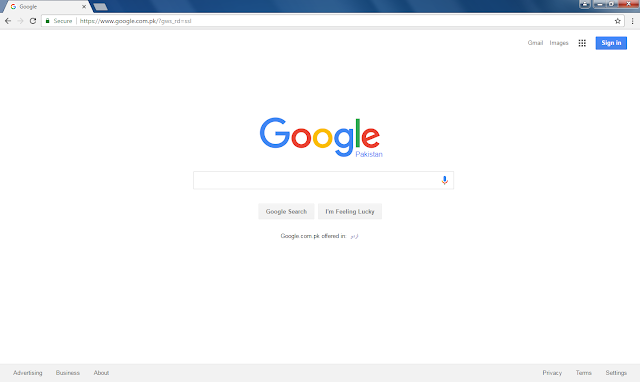 Google in google Chrome