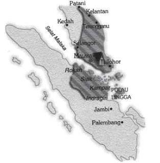 Peta Wilayah Kekuasaan Kerajaan Malaka