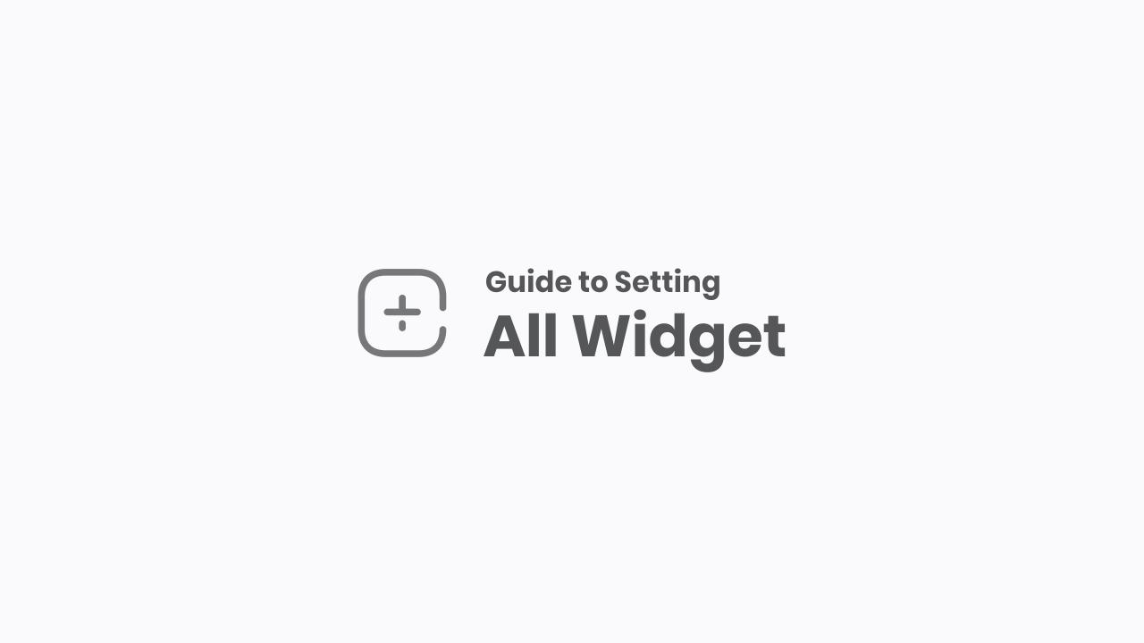 Widget Settings and Customization in Median UI