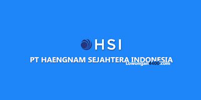 Lowongan Kerja Operator PT. Haeng Nam Sejahtera Indonesia Bogor