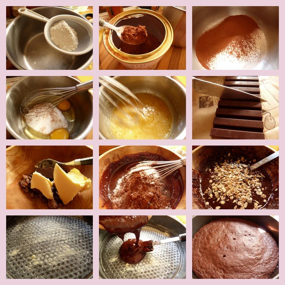 Receta de brownie de chocolate con cacao y mermelada