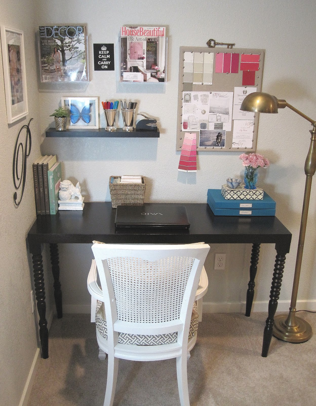 turquoise desk chair target most comfortable computer chairs freckles chick: basement reno: office nook