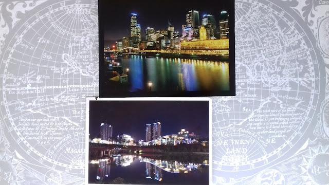 pocztówki, miasta nocą, pocztówki z miastami nocą, widokówka z miastem nocą, noc