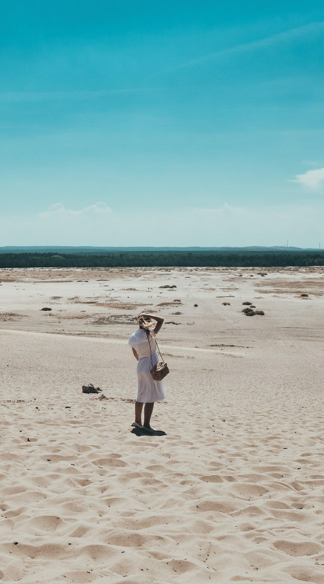 Pustynia błędowska krajobraz, widok na pustynię błedowska