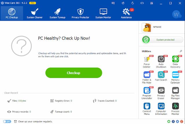 Wise Care 365 Pro 4.65 Crack + Keygen Free Download