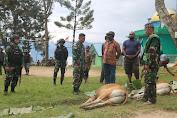 Satgas Yonif RK 751/VJS, Idul Adha 1442 H Di Pegunungan Tengah Papua