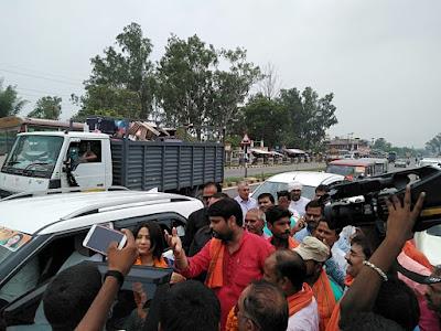 BJP Mahila Morcha Mantri Welcomed At Basti Uttar Pradesh