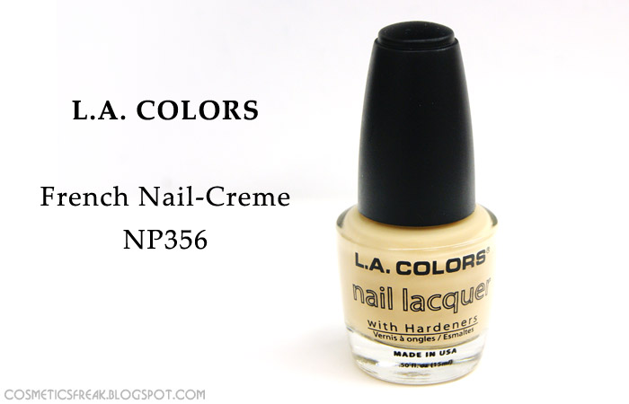 L.A. COLORS - FRENCH NAIL CREME NP356
