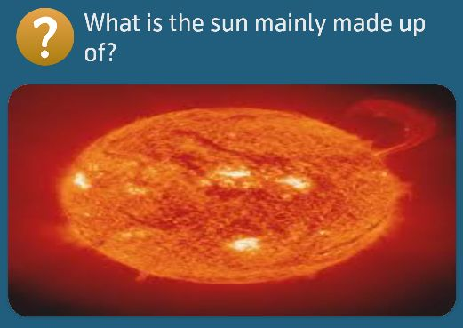 What is the sun mainly made up of?