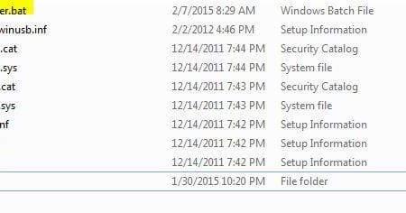 Driver မ်ား Download ရယူျပီး installer မပါလာပါက အသုံးျပ