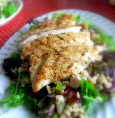 Grilled Chicken and Wheatberry Salad