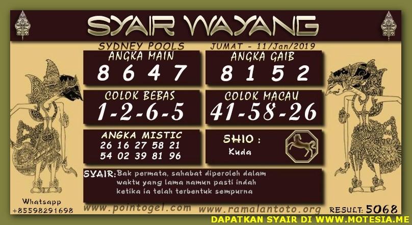 Syair Sd Jumat 11 01 2019 Adstogel Zona Code Syair Sgp