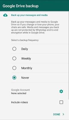 Cara Menghapus Notifikasi Backup di WhatsApp
