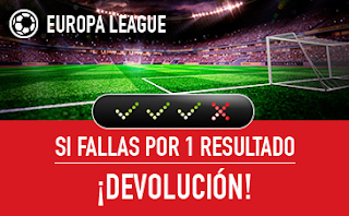 sportium devolucion combinada Europa League 7 diciembre