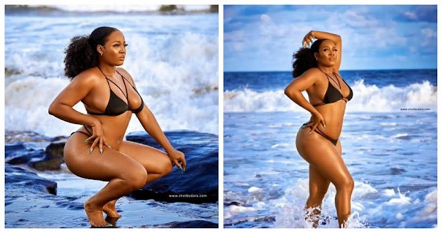 BBNaija star, Lucy Edet shares new photos of herself as she flaunts her swim wear (Photos)