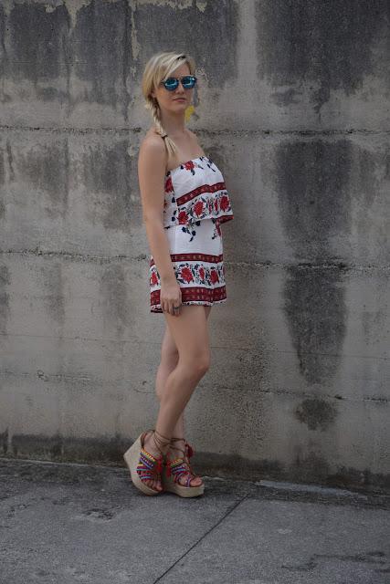 outfit stampa fiori come indossare la stampa a fiori outfit floreale outfit luglio 2017 outfit estivi estate 2017 mariafelicia magno fashion blogger colorblock by felym fashion blog italiani fashion blogger italiane blog di moda