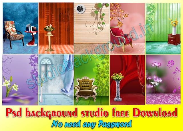 Psd background studio