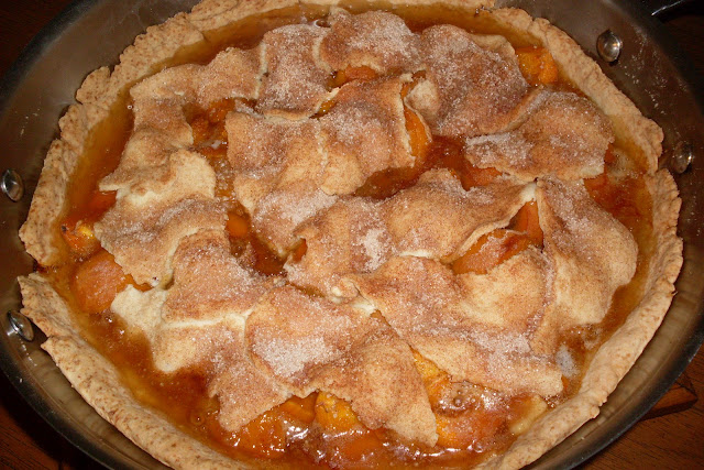 Fresh Apricot Pie with a Cobblestone Crust.
