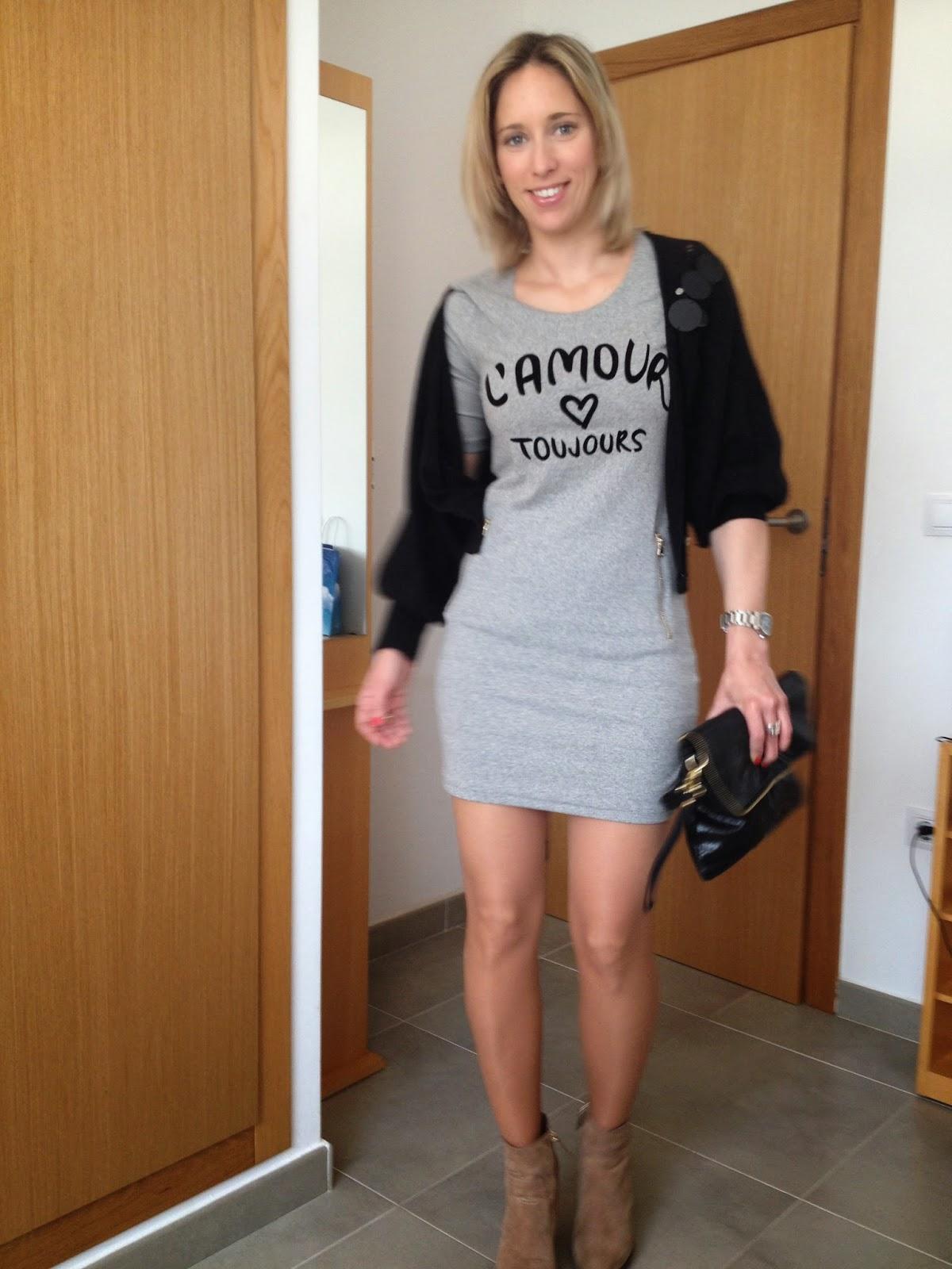 Stravaganza Vestido Gris Sporty Un Mismo Vestido Con Dos