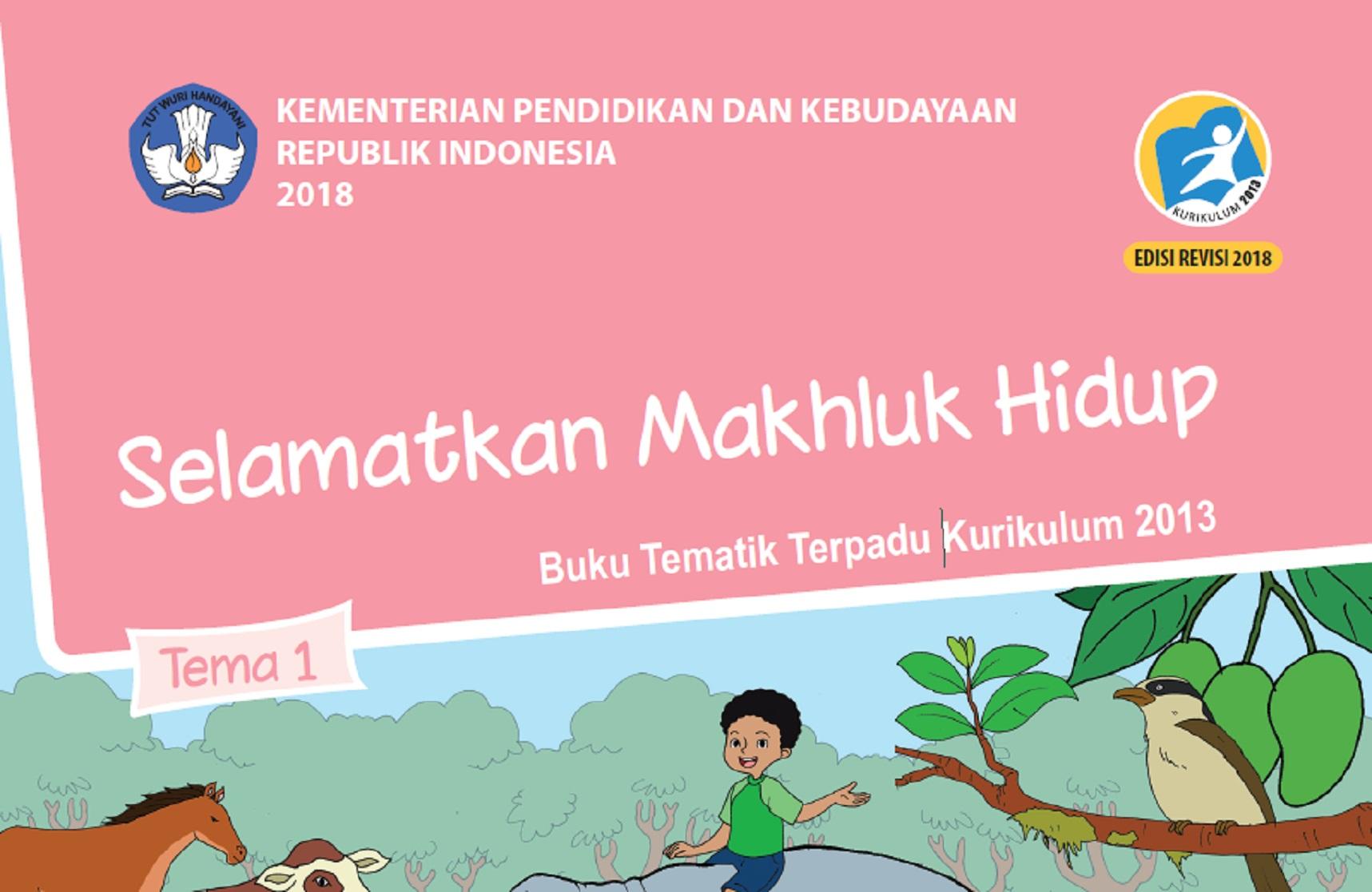 Download Buku Siswa dan Buku Guru Kelas VI (Enam) SD Kurikulum 2013 Revisi 2018