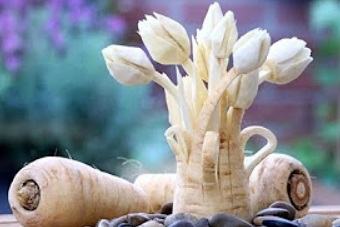 Parsnip Tulips | Fruit & Vegetable Carving Lessons | Tulip Flowers