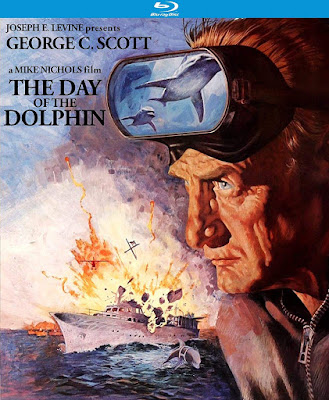 Blu-ray cover for Kino Lorber's Blu-ray release of THE DAY OF THE DOLPHIN!
