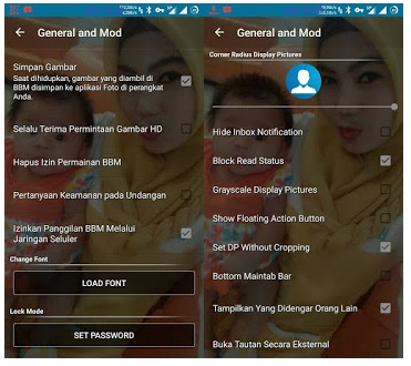 BBM Mod Transparant Theme - Based Official V3.0.1.25 Apk