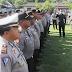 Satu Peleton Anggota Polres Amankan Demo Guru