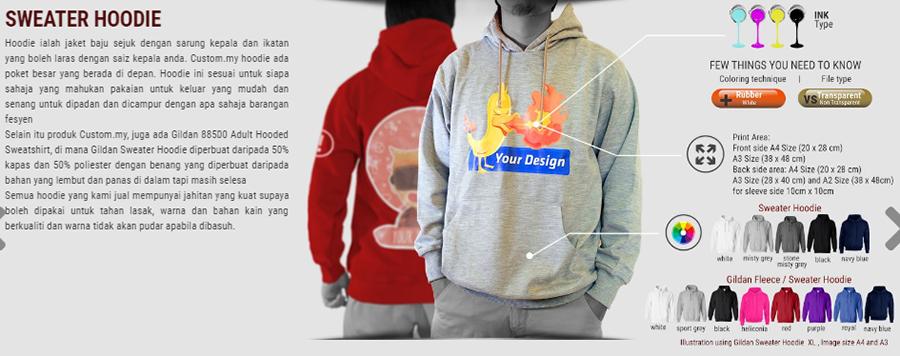 custommy, print baju murah, print fabrik, design sendiri, rekaan sendiri, print baju,