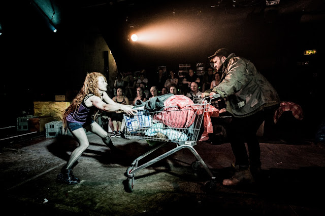 Rosie Lomas (Vixen), Tim Dickinson (Badger) - Silent Opera - Vixen (photo Robert Workman)