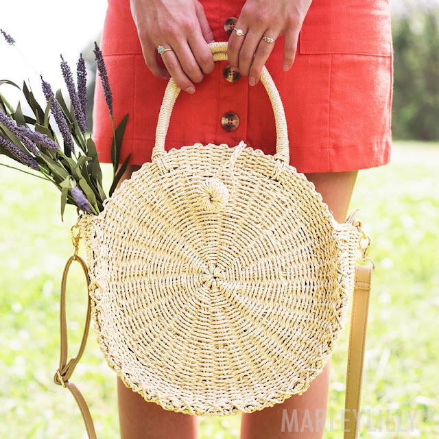The Circle Straw Purse