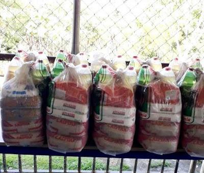 Registro-SP iniciou a segunda etapa da entrega das cestas de alimentação para alunos da rede municipal de ensino